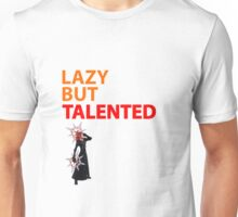 Axel Lazy but Talented White Unisex T-Shirt