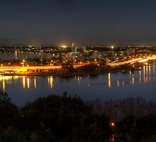 South Perth at night by BigAndRed