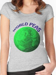World Peas Women's Fitted Scoop T-Shirt