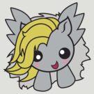 Kawaii Pony-gray/yellow by AnimePlusYuma