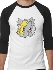 Kawaii Pony-gray/yellow Men's Baseball ¾ T-Shirt