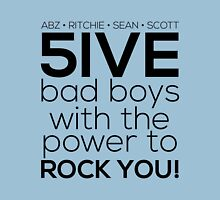 5ive Bad Boys with the Power to ROCK YOU! (black version) Womens Fitted T-Shirt