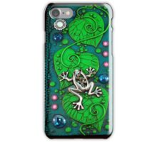 Frog on Green Leaves iphone ipod Cover iPhone Case/Skin