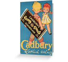 Vintage poster - Chocolate Ad Greeting Card