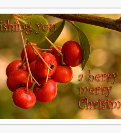 Berries 'n' bokeh - Christmas card Sticker