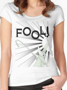 Excalibur With FOOL! saying Women's Fitted Scoop T-Shirt