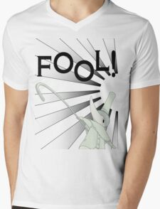 Excalibur With FOOL! saying Mens V-Neck T-Shirt