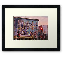 Broadway and Columbus Framed Print