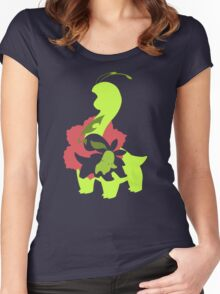 Chikorita - Bayleef - Meganium Women's Fitted Scoop T-Shirt