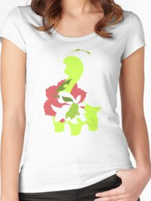 Chikorita - Bayleef - Meganium Women's Fitted Scoop T-Shirt