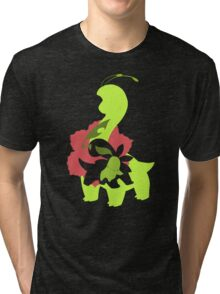 Chikorita - Bayleef - Meganium Tri-blend T-Shirt