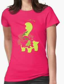 Chikorita - Bayleef - Meganium Womens Fitted T-Shirt