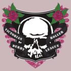 Victoria Roller Derby League Skull - Pink by trossi