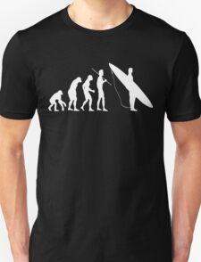 Evolution to surfer White Unisex T-Shirt
