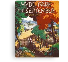 HYDE PARK IN SEPTEMBER (vintage illustration) Canvas Print