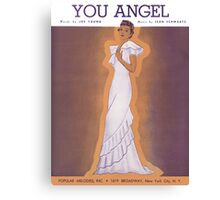 YOU ANGEL (vintage illustration) Canvas Print