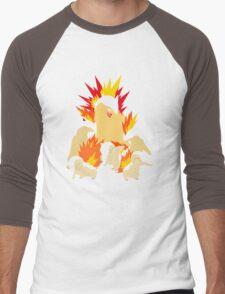Cyndaquil - Quilava - Typhlosion Men's Baseball ¾ T-Shirt