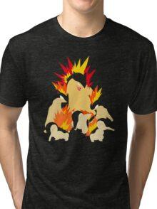 Cyndaquil - Quilava - Typhlosion Tri-blend T-Shirt