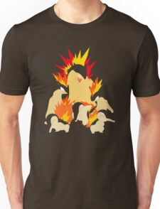 Cyndaquil - Quilava - Typhlosion Unisex T-Shirt