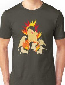 Cyndaquil - Quilava - Typhlosion Unisex T-Shirt