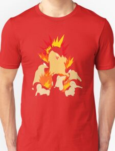 Cyndaquil - Quilava - Typhlosion T-Shirt