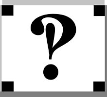 INTERROBANG by PatternPlace