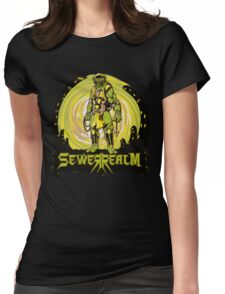 SewerRealm -Yellow Womens Fitted T-Shirt