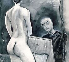 The Old Tired Artist and his Model by ivDAnu