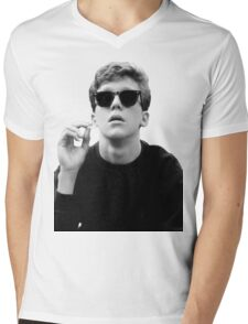 Black and White Brian Breakfast Club Mens V-Neck T-Shirt