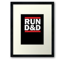 Run Dungeons and Dragons Framed Print