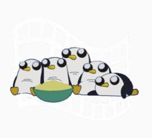 Movie Night for Penguins  One Piece - Short Sleeve