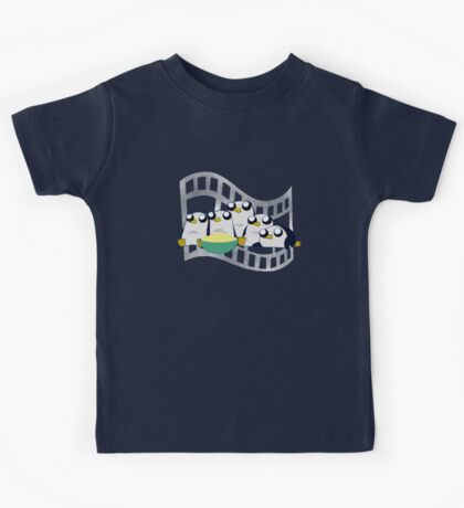 Movie Night for Penguins  Kids Tee