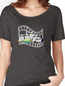 Movie Night for Penguins  Women's Relaxed Fit T-Shirt