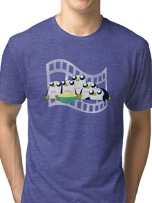 Movie Night for Penguins  Tri-blend T-Shirt