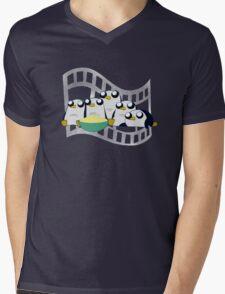 Movie Night for Penguins  Mens V-Neck T-Shirt