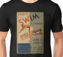 Vintage poster - Learn to swim Unisex T-Shirt