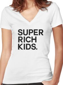 Super Rich Kids Women's Fitted V-Neck T-Shirt