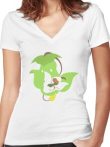 Bellsprout - Weepinbell - Victreebel Women's Fitted V-Neck T-Shirt