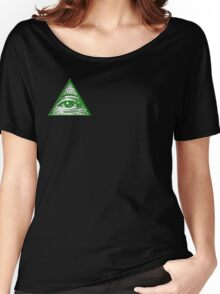 All Seeing Eye - Small logo Women's Relaxed Fit T-Shirt