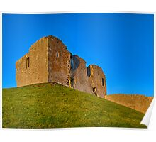 DUFFUS CASTLE IN THE BLUE Poster