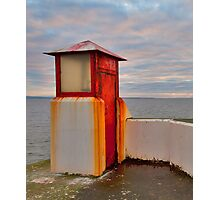 BURGHEAD THE HARBOUR LIGHT Photographic Print