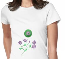 Green sunny day Womens Fitted T-Shirt