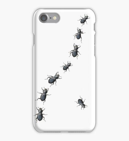 Creepy Crawly Black Beetles iPhone Case/Skin