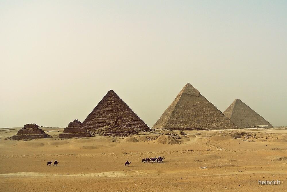 Caravan & Pyramids by heinrich