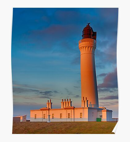 COVESEA THE LIGHTHOUSE AT SUNSET Poster