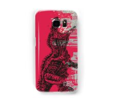 T-Rex dinosaur attacking grunge city Samsung Galaxy Case/Skin