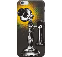 Vintage retro pop art phone telephone halftone burst iPhone Case/Skin