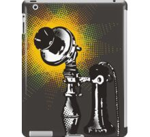 Vintage retro pop art phone telephone halftone burst iPad Case/Skin
