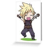 Chibi Cloud Greeting Card
