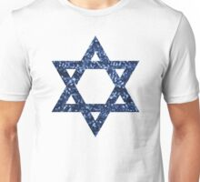 sequin star of david Unisex T-Shirt
